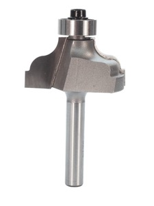 "Whiteside 3214 Ogee Fillet Router Bit 3/16"" Radius 1-3/8"" Large Diameter 5/8"" Cut Length 1/4"" Shank 2 Flute"