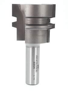 "Whiteside Standard Glue Joint Router Bit 1-1/2"" Large Diameter 1/2"" to 1-1/4"" Cut Length 1/2"" Shank 2 Flute"