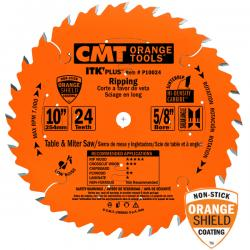 "CMT 10"" 24T Industrial Thin Kerf-Plus Ripping Saw Blade 5/8"" Bore"